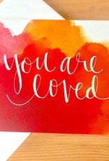 An Open Sketchbook Watercolor: You Are Loved Greeting Card