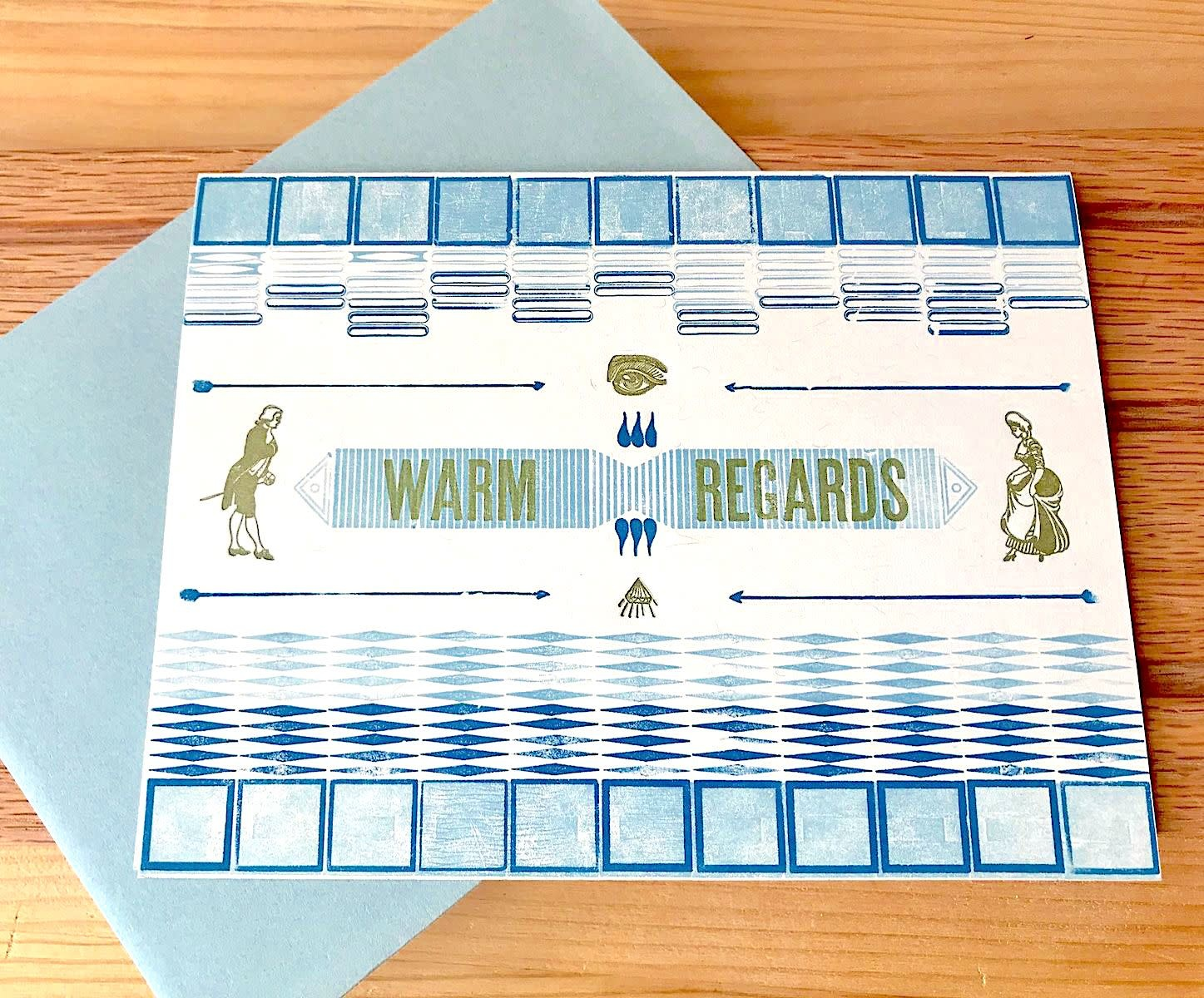 JustAJar Design Press Warm Regards Greeting Card