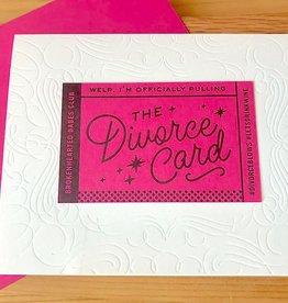 Igloo Letterpress The Divorce Card Greeting Card