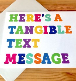 Fiber and Gloss Tangible Text Message Greeting Card