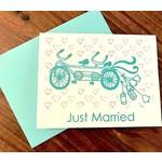 Paper Michelle Tandem Bike Wedding Greeting Card