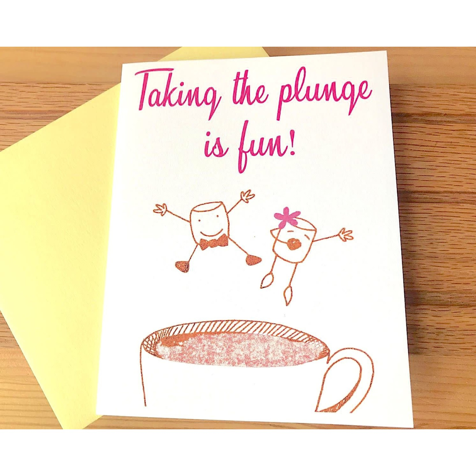 Paper Michelle Taking The Plunge Greeting Card