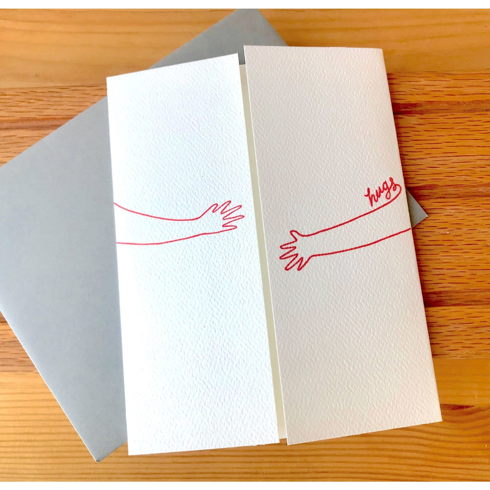 Cracked Designs Open Hugs Greeting Card