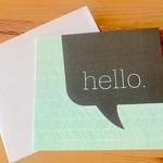Haven Paperie Mint Hello Greeting Card