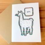 Champaign Paper Llama Hey Greeting Card