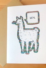 Champaign Paper Llama Hey Greeting Card