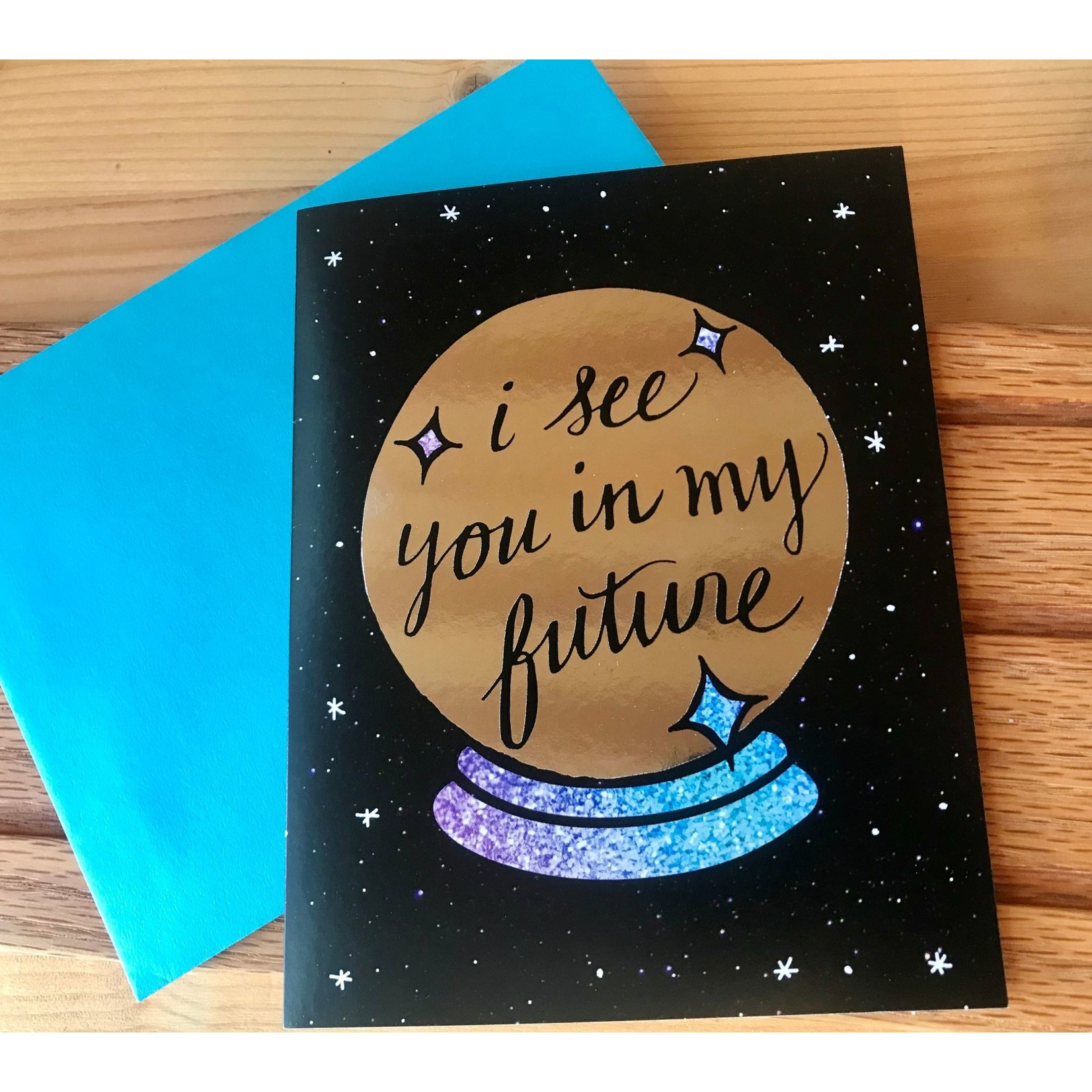 Band of Weirdos / Moss Love *I See You Crystal Ball Greeting Card