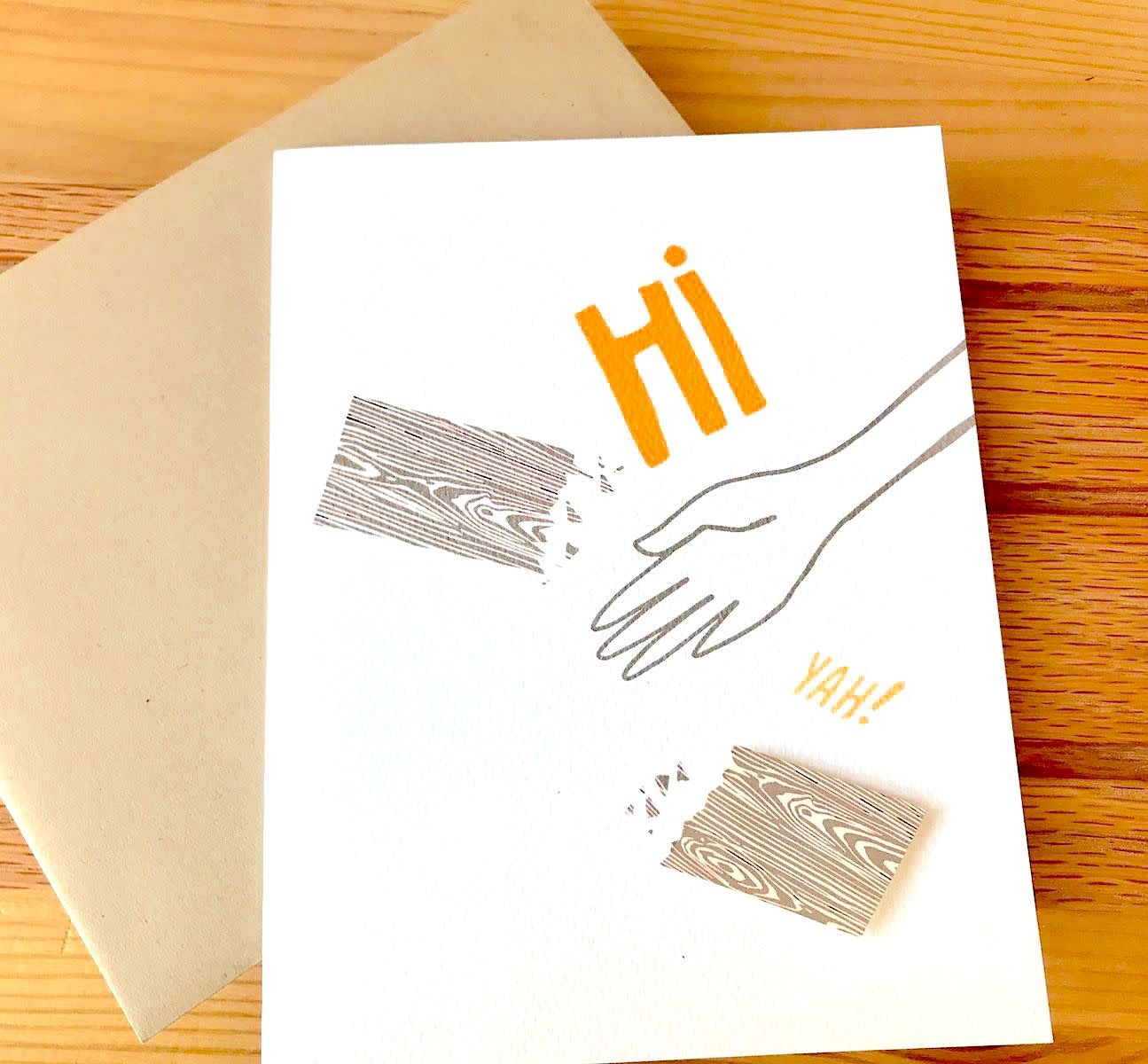 Cracked Designs Hi-Yah! Greeting Card