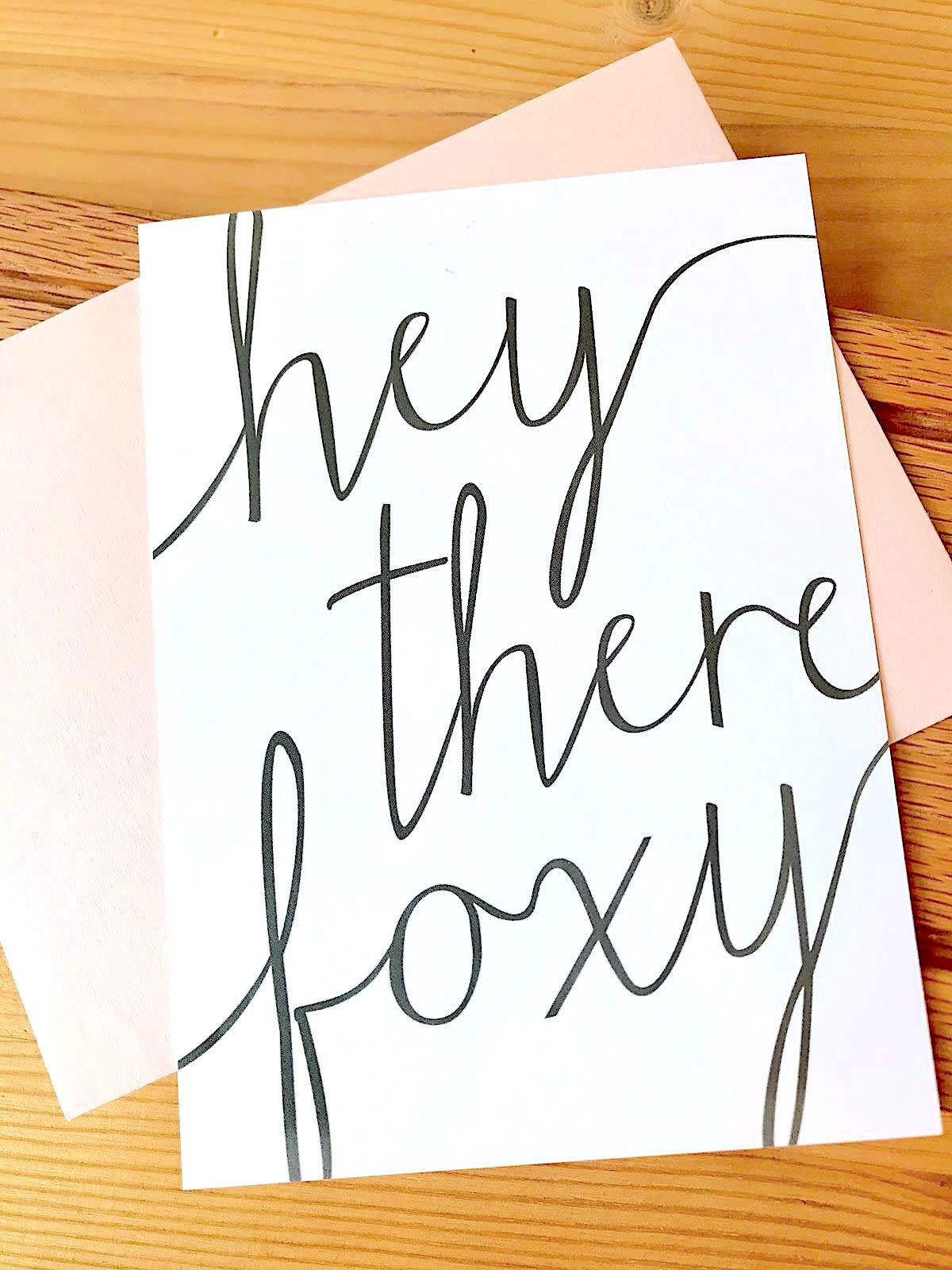 Haven Paperie Hey There Foxy Flat Note Card