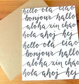Dear Ollie Hello Cursive Languages Greeting Card