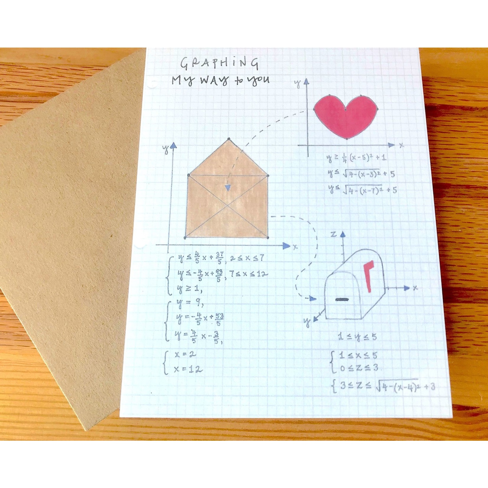 Lacelit Graphing My Way Greeting Card