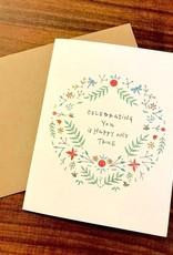 Lacelit Celebrating You Greeting Card