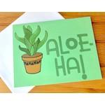 Fiber and Gloss Aloe-Ha! Plant Greeting Card