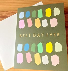 Bloomwolf Studio Best Day Ever Color Brushstrokes Greeting Card