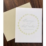 Iron Leaf Press Blessings Best Wishes Wedding Greeting Card