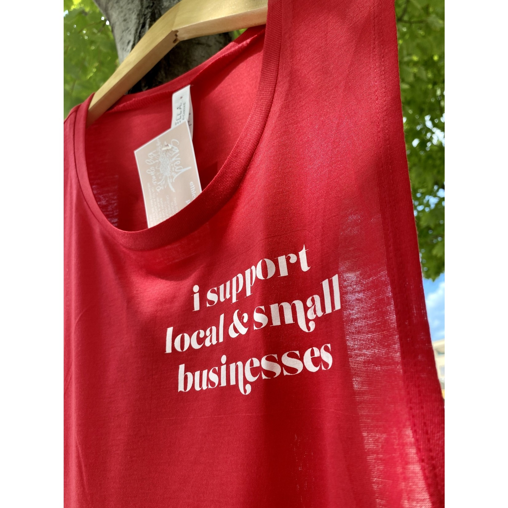 Saved By Grace Co. (BO) Support Small + Local Red Tank