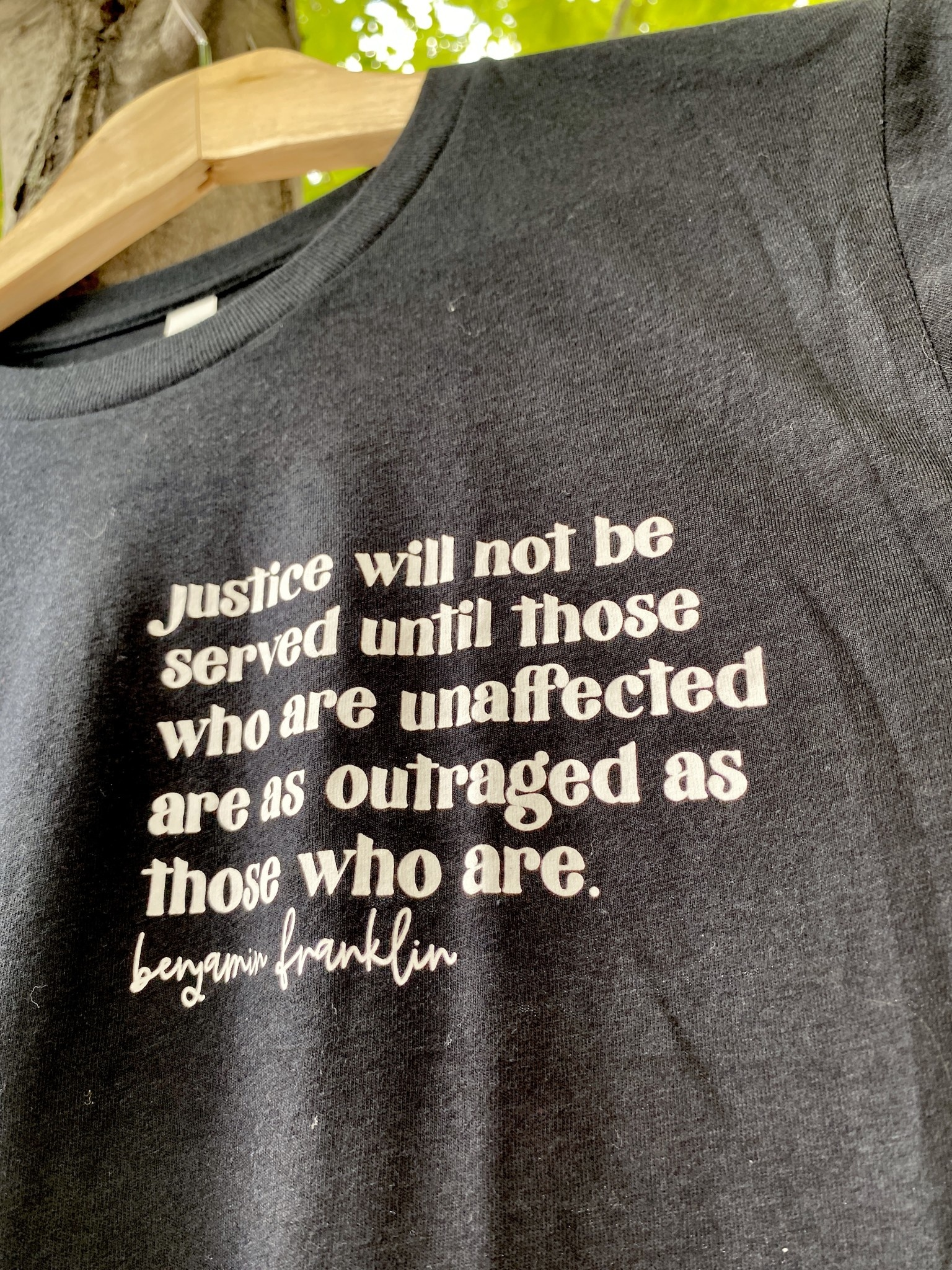 Saved By Grace Co. (BO) Justice Not Served Black Tee