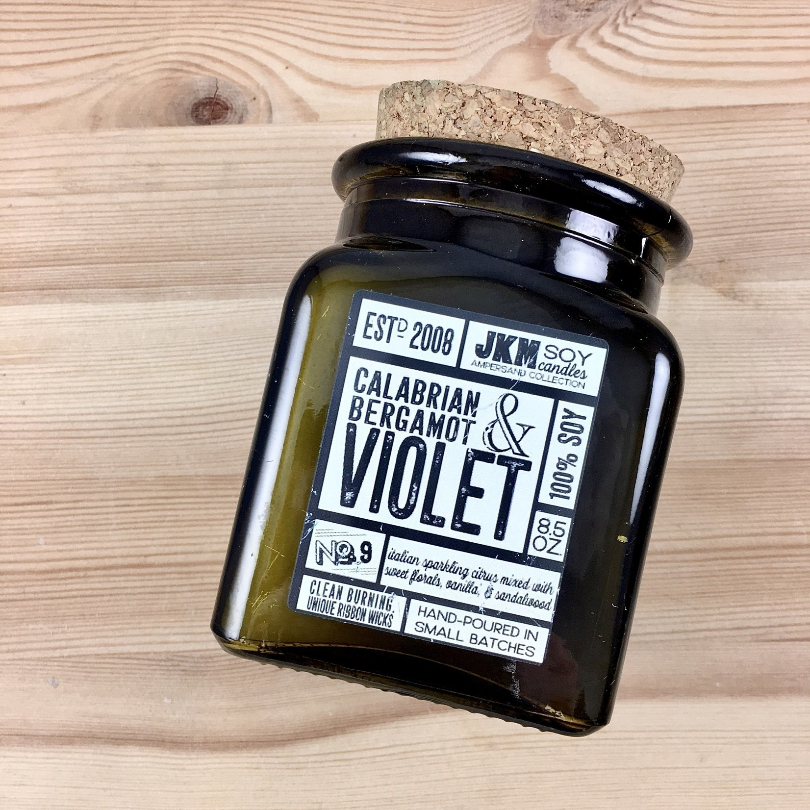 JKM Soy Candles AC: Calabrian Bergamot & Violet Soy Candle