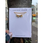 Larissa Loden VOTE 24k Gold-Plated Letter Necklace