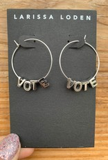 Larissa Loden VOTE Sterling Silver Letter Earrings