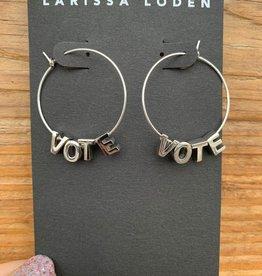 Larissa Loden VOTE Sterling Silver Letter Earrings