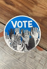 Nikki McClure VOTE! Hands Circle Sticker