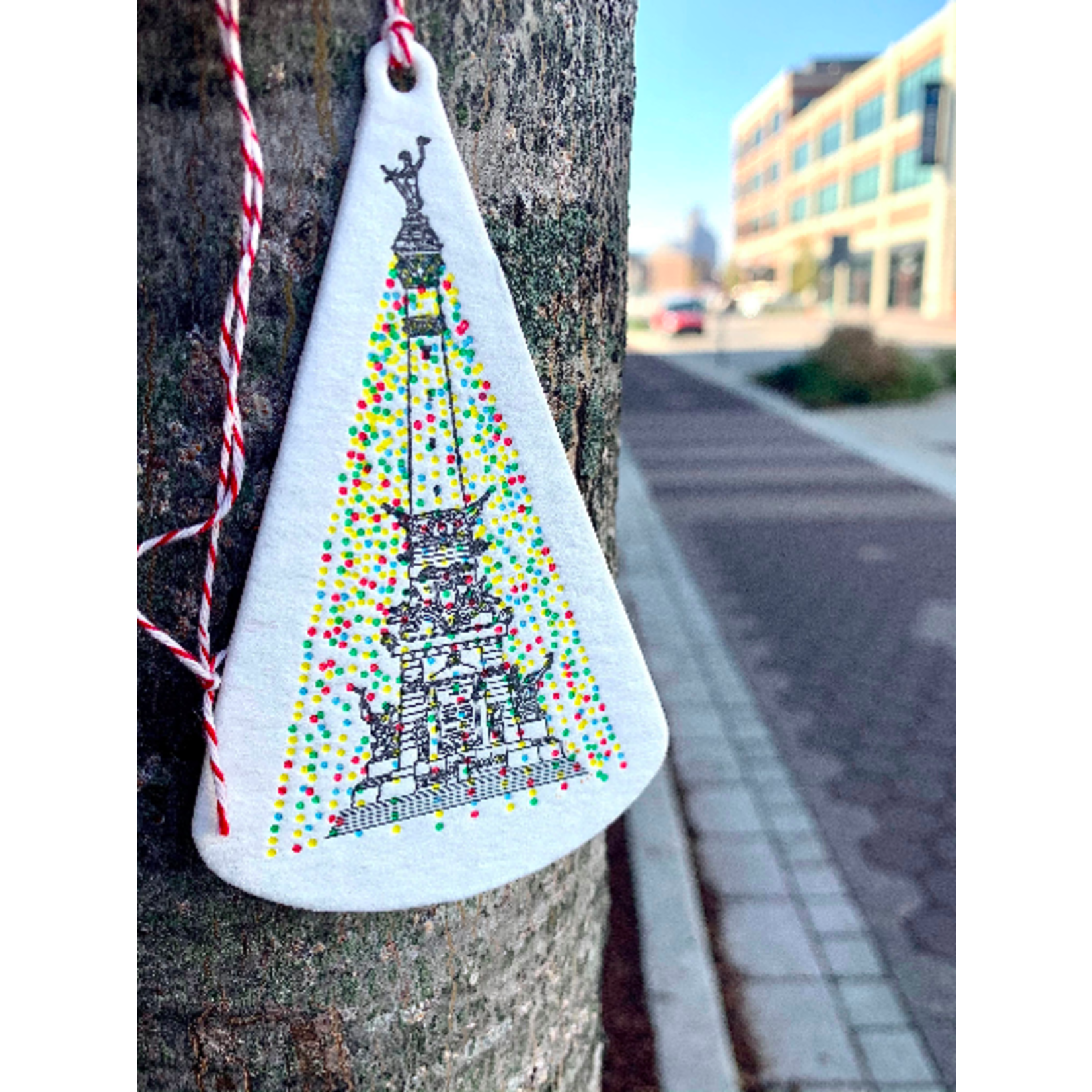 Katydid Holiday Monument Ornaments Box Set