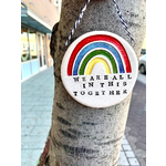 Tasha McKelvey All In This Together Rainbow Ceramic Wall Ornament