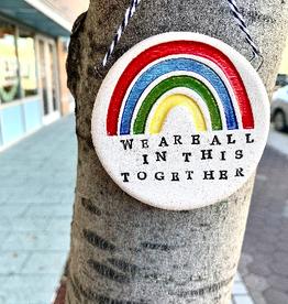 Tasha McKelvey All In This Together Rainbow Ceramic Wall Plaque