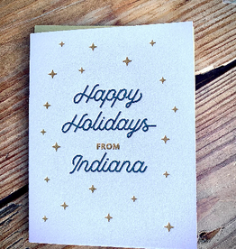 Iron Leaf Press Happy Holidays From Indiana Greeting Card