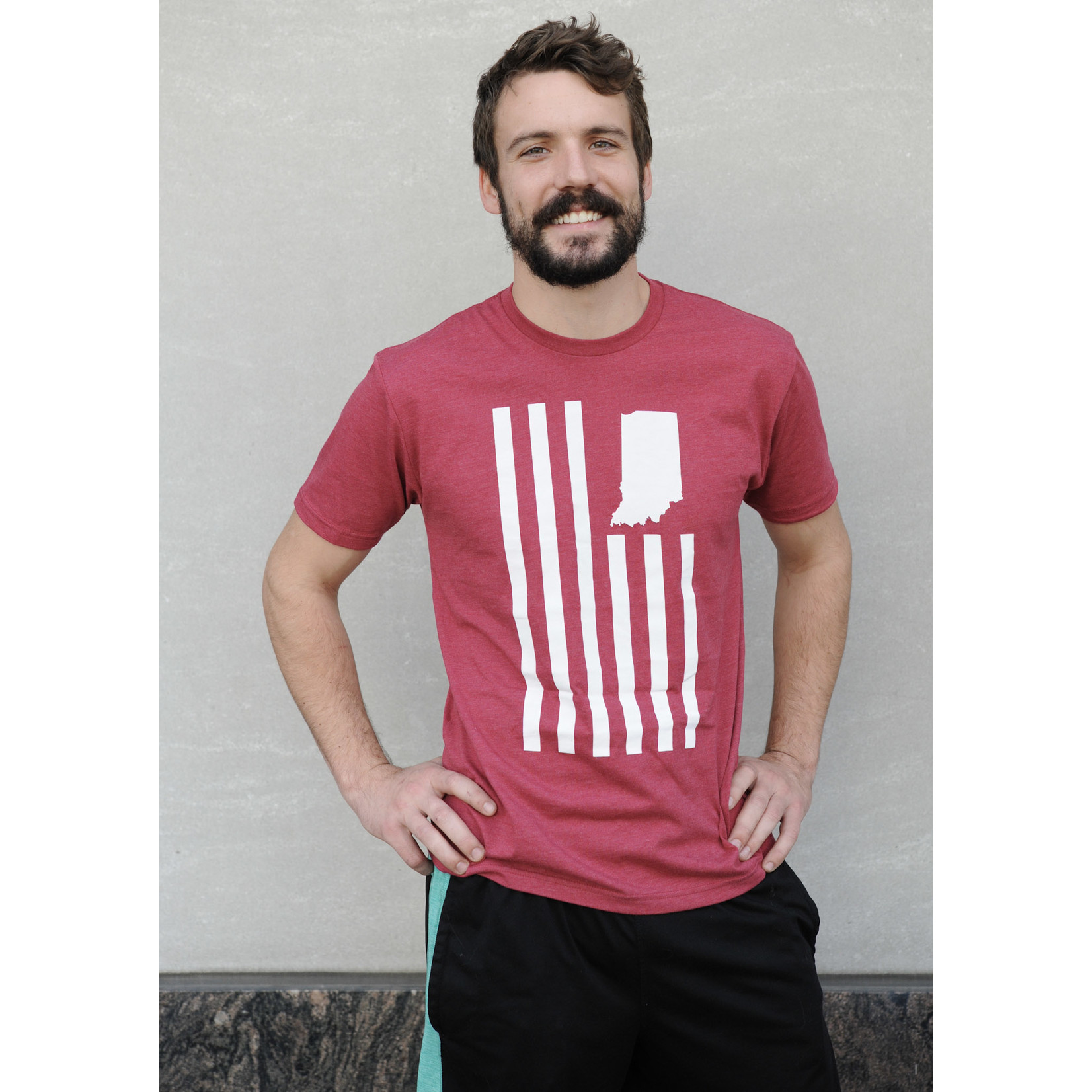 United State of Indiana USI Flag Tee (Red)