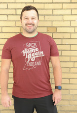 Terz Ink Back Home Again Tee: Crimson