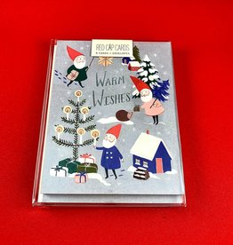 Red Cap Cards Box Set: Holiday Gnomes Greeting Card