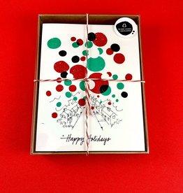 An Open Sketchbook Box Set: Christmas Balls 2019 Greeting Card