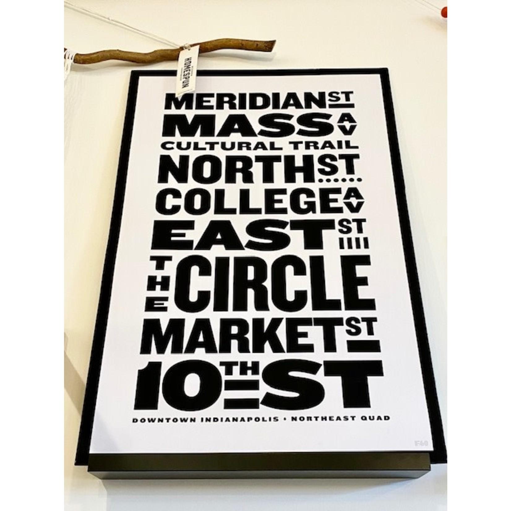 Studio F60 Indy Streets 24x36 Poster