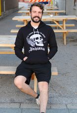 United State of Indiana Leave When Dead Skull Hoodie