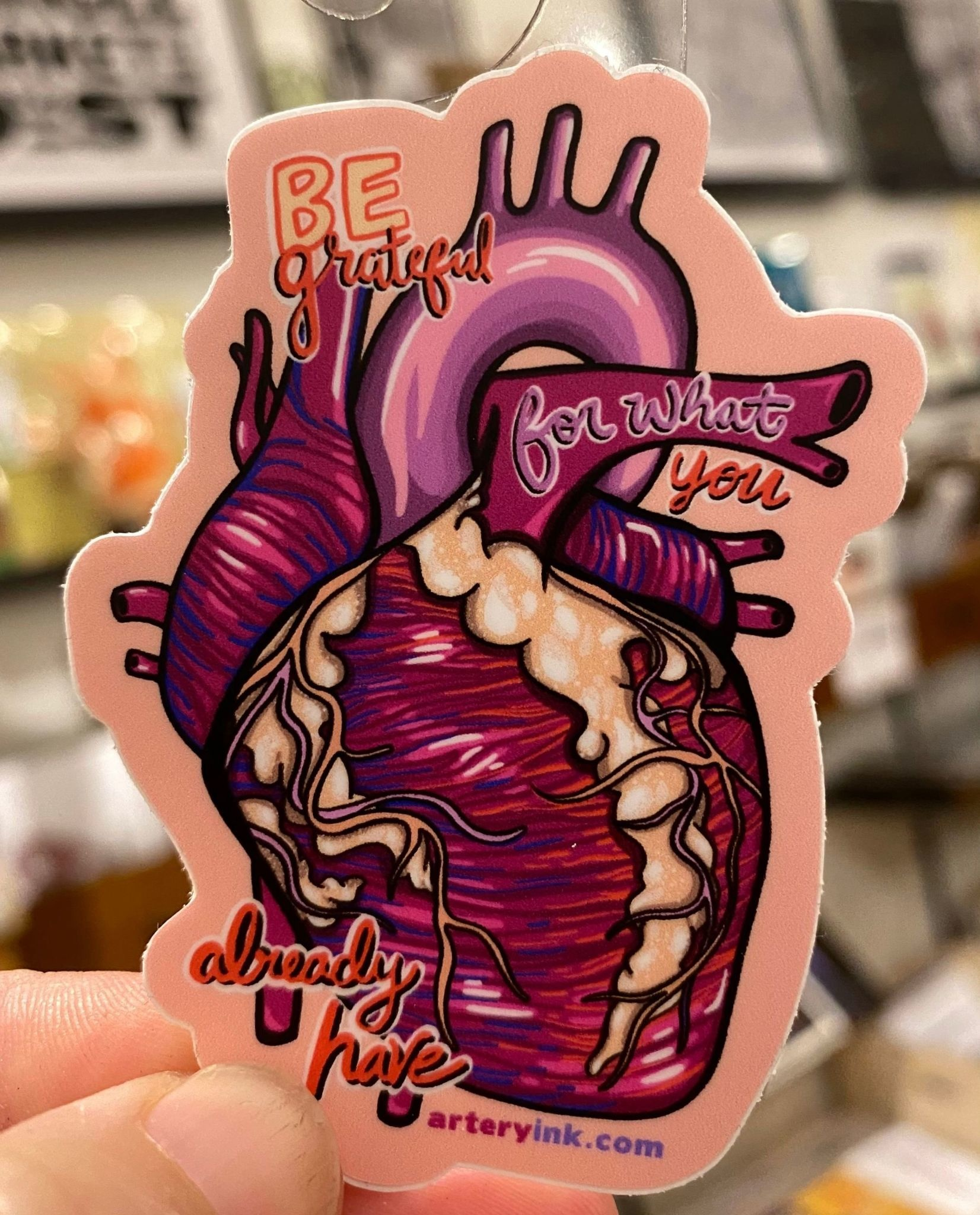 Artery Ink Artery Ink Reminder Stickers Grateful Heart