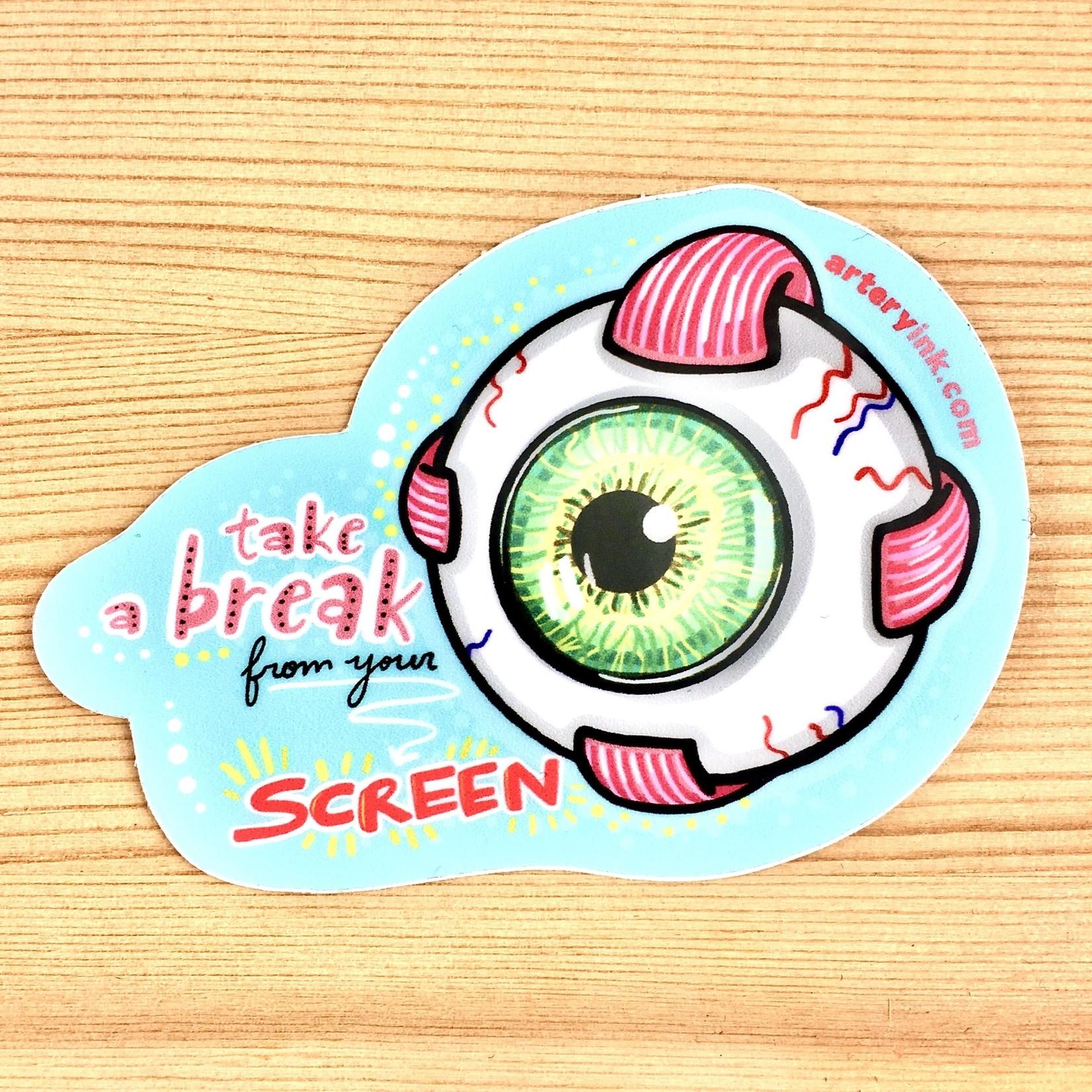 Artery Ink Artery Ink Reminder Stickers Screen Break Eye