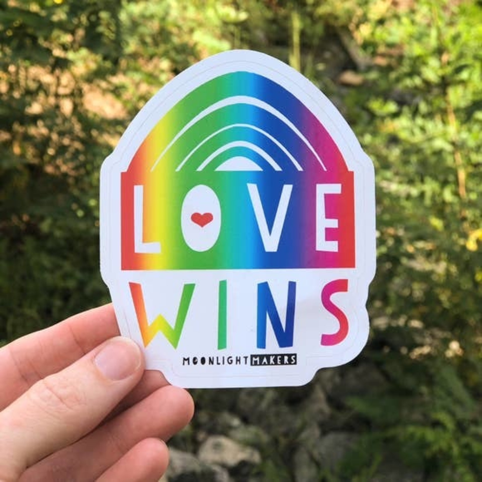 Moonlight Makers Love Wins Rainbow Sticker