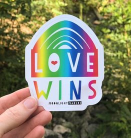 Moonlight Makers Love Wins Rainbow Sticker