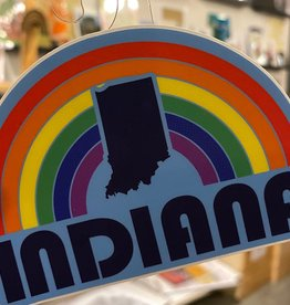 United State of Indiana Rainbow Arch Indiana Sticker