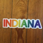 BadKneesTs Indiana Pride Rainbow Sticker
