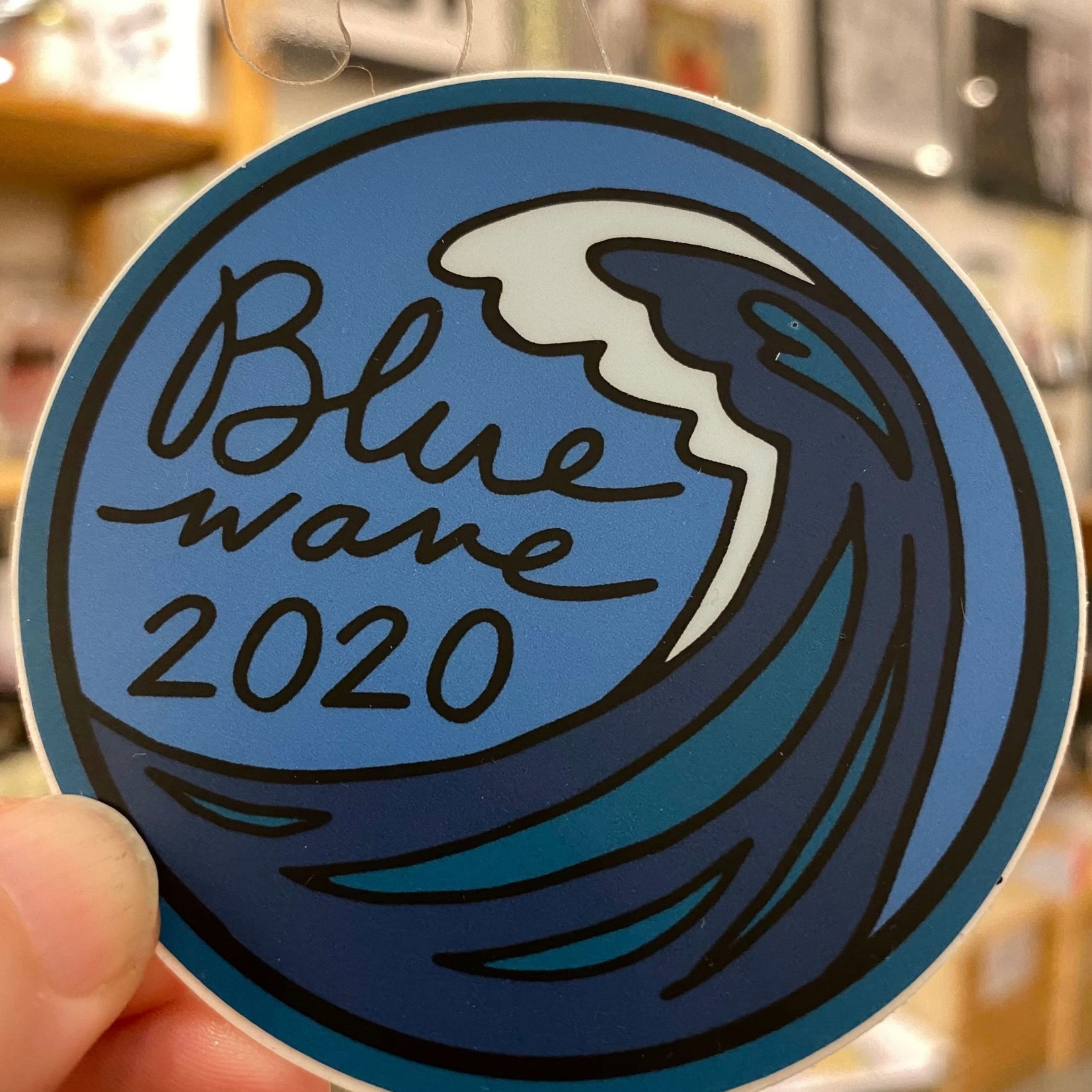 Jean Elise Designs Blue Wave 2020 Sticker