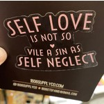 1606 / Sunset Avenue Ceramics Self Love / Self Neglect Sticker