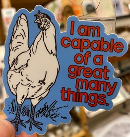 BadKneesTs Capable Hen Chicken Sticker