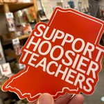 BadKneesTs Support Hoosier Teachers Sticker