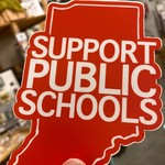 BadKneesTs IN Support Public Schools Sticker