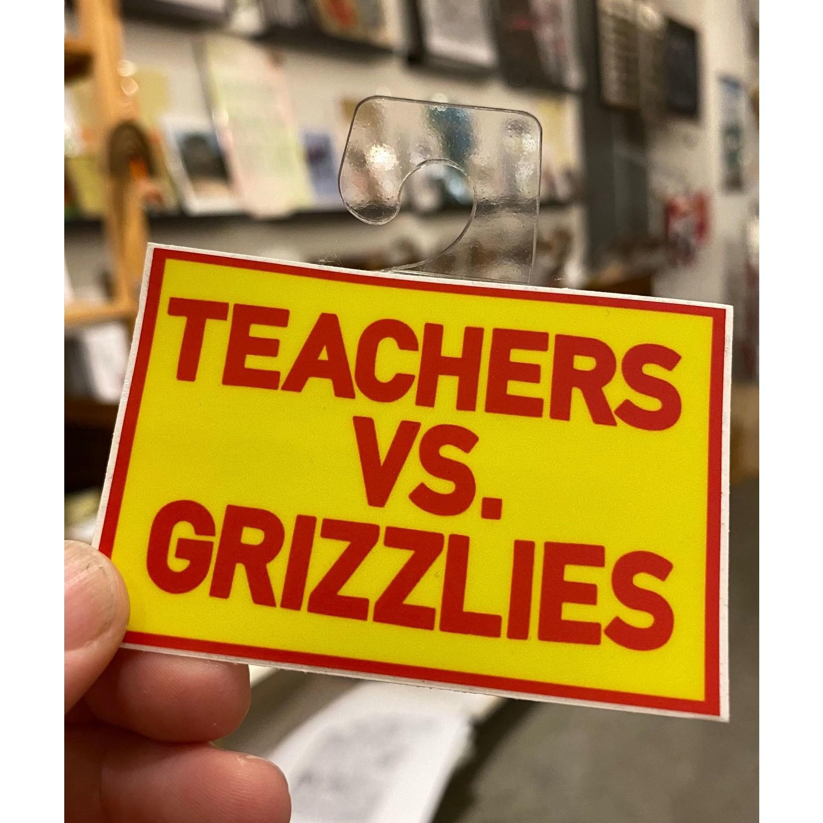 BadKneesTs Teachers VS. Grizzlies Sticker