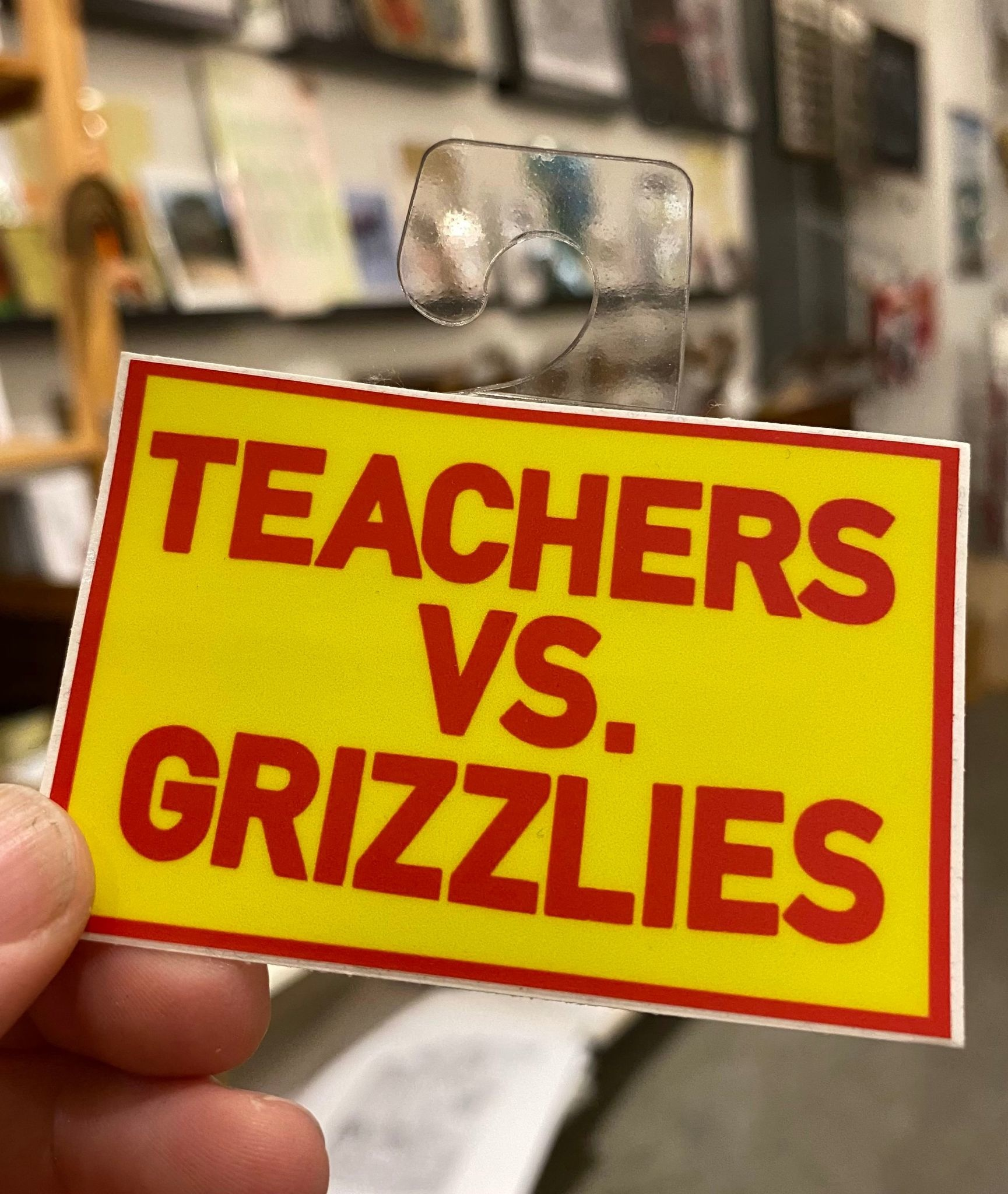 BadKneesTs Teachers VS. Grizzlies Sticker