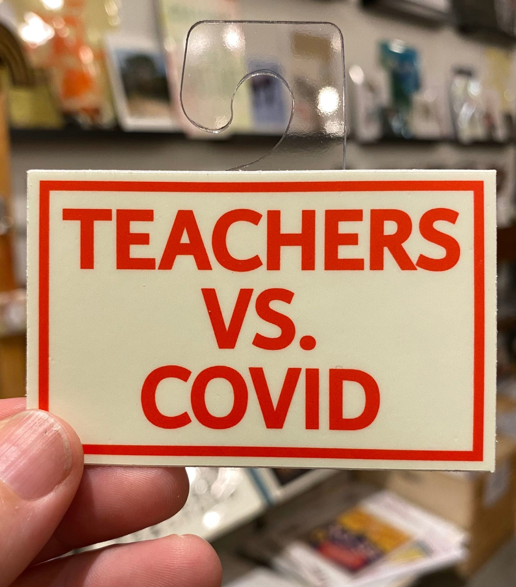 BadKneesTs Teachers Vs. Covid Sticker